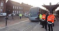 Inauguration de la branche vers Vieux-Condé de la ligne B du tramway de Valenciennes le 13 décembre 2013 (040).JPG