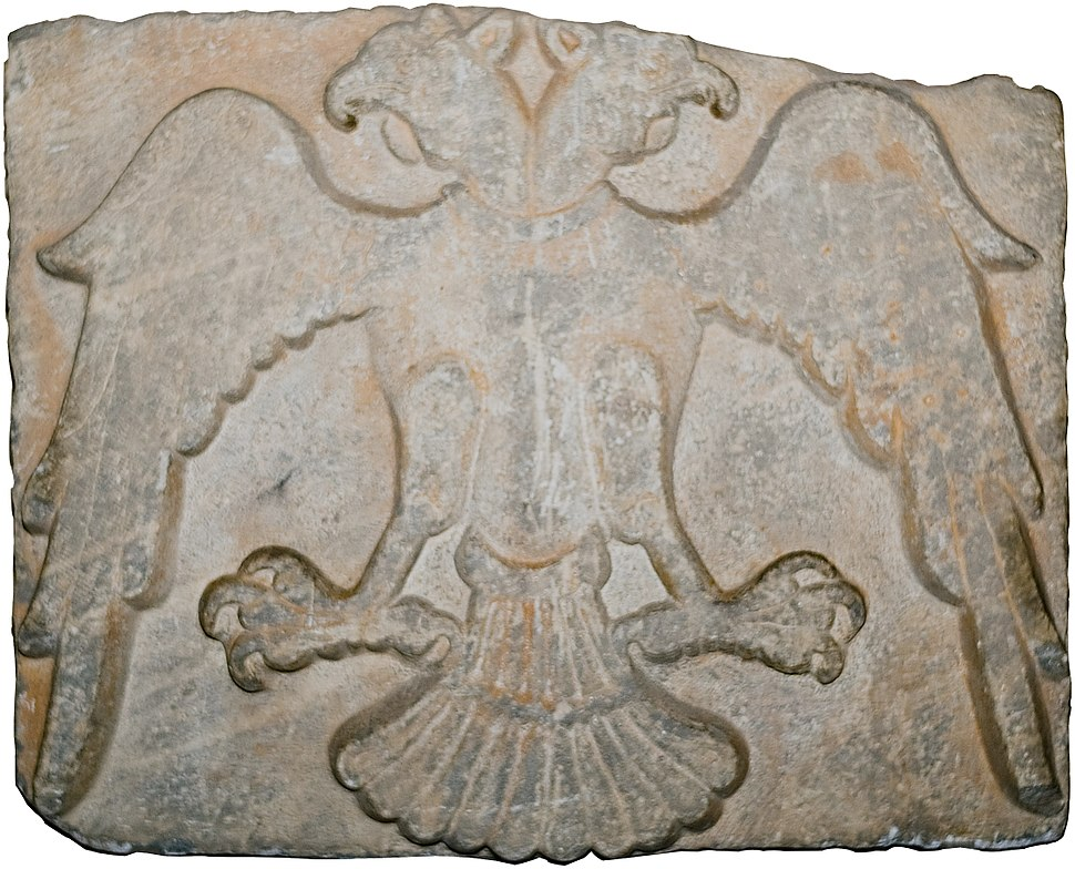 Supposed Coat of Arms of the sultans of Rum (A double-headed eagle relief, 13th-century architectural fragment found at Konya) of Rum