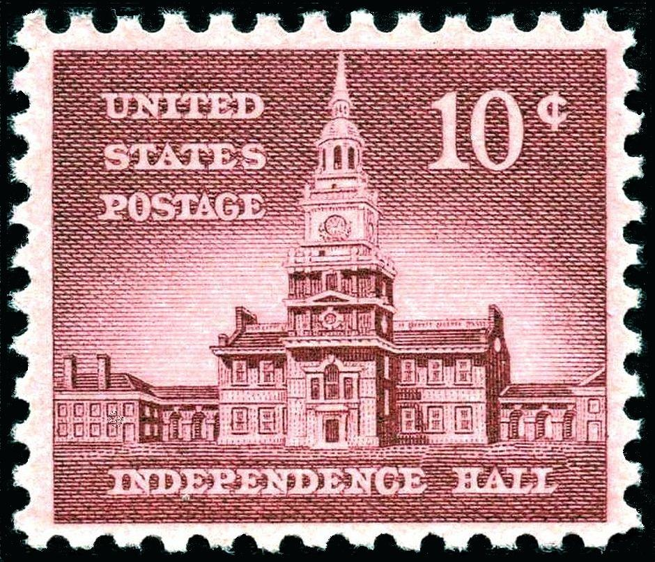 Independence Hall 1956 Issue-10c