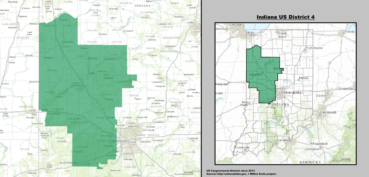 Indiana\'s 4th congressional district - Wikipedia