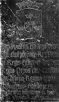 Ingold the Younger of Sweden & Philip of Sweden (1110s) grave detail 1905.jpg