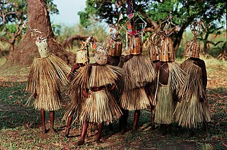 Yao people (East Africa) - 9- to 10-year-old boys of the waYao tribe participating in circumcision and initiation rites (March 2005).