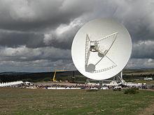 Il radiotelescopio nel giorno dell'inaugurazione