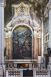 Interior of Chiesa dei Gesuiti (Venice) - right nave - The Chapel of Guardian angel.jpg