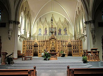 St. Raphael's Cathedral (Dubuque, Iowa) - The Altar area of the cathedral.