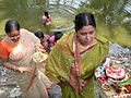 Inviting Goddess Ganga - Hindu Sacred Thread Ceremony - Simurali 2009-04-05 4050077.JPG
