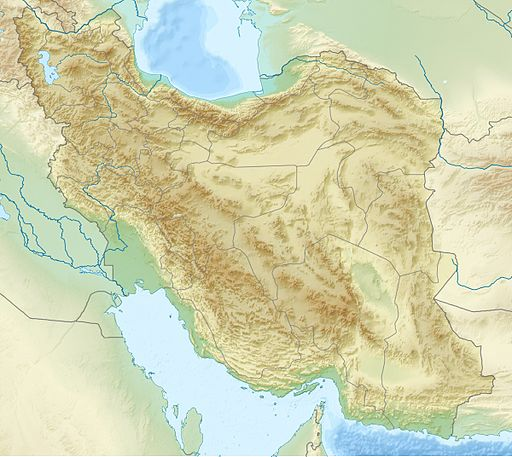 Iran relief location map