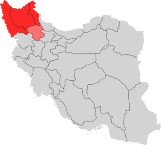 Azerbaijan (Iran) - Four provinces of Iranian Azerbaijan region