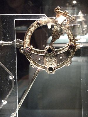 Celtic brooch - Tara Brooch, rear view.