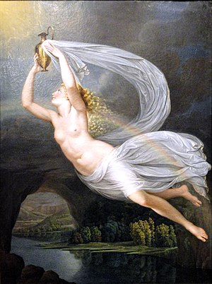"Iris (mythology) - ""Iris Carrying the Water of the River Styx to Olympus for the Gods to Swear By, Guy Head, c. 1793"