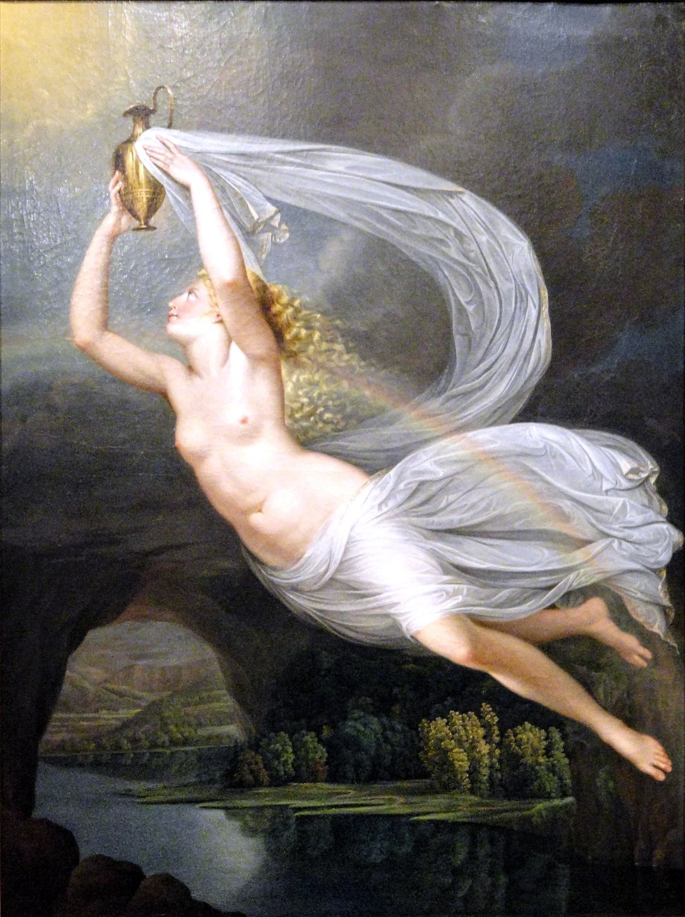 Iris Carrying the Water of the River Styx to Olympus for the Gods to Swear By, Guy Head, c. 1793 - Nelson-Atkins Museum of Art - DSC08946