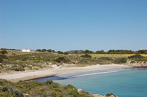 San Pietro Island - Small beach in South side of San Pietro isle