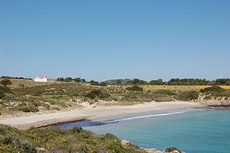 San Pietro Island - Small beach in South side of San Pietro isle