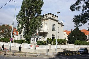 Czech Republic–Israel relations - Israeli embassy in Prague, Czech Republic.