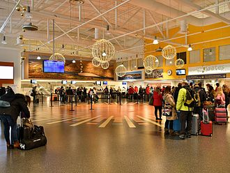 Ivalo Airport - Check-in hall at Ivalo Airport.