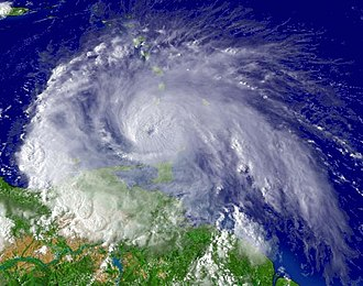 Effects of Hurricane Ivan in the Lesser Antilles and South America - Image: Ivan Sat Img Sept 7 2004