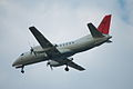JAC Saab 340B(JA8888) approach @ITM RJOO (1448975820).jpg