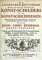 JCWeyerman - Levens-beschryvingen Volume I titlepage.jpg