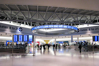 JetBlue - The entry hall of T5 at John F. Kennedy International Airport