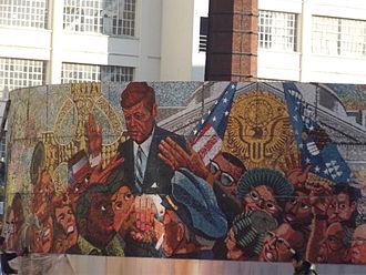 Kenneth Budd - Image: JFK Memorial installation Floodgate Street, Digbeth