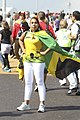 Jamaican fan outside the Olympic Stadium (7724427578).jpg