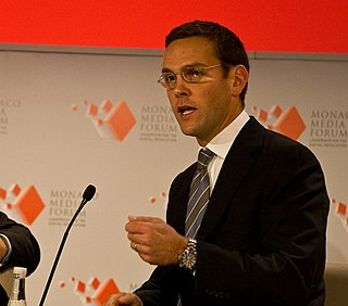 James Murdoch British media executive