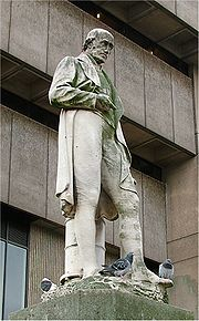 Watt celebrated as a statue in Chamberlain Square, outside Birmingham Central Library