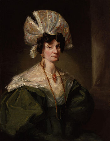 Jane Hood (née Reynolds), by unknown artist. S...
