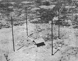 Adcock antenna - Image: Japanese Adcock Antenna Rabaul CINCPAC 5 45 3