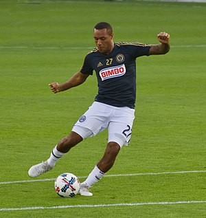 Jay Simpson - Warming up for Philadelphia Union in 2017