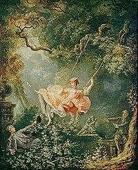 Huśtawka Obraz Fragonarda Wikipedia Wolna Encyklopedia