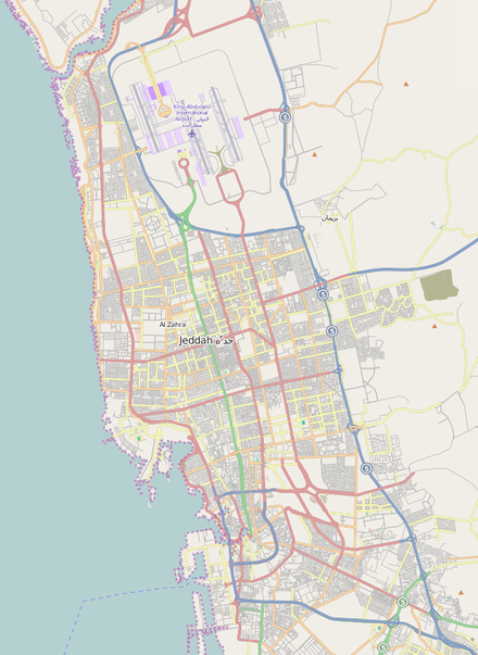 Map of Jeddah from OpenStreetMap Jeddah map.png