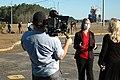 Jennifer Boland-Masterson of Boeing speaks with media representatives prior to the SLS Green Run Test.jpg