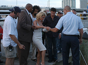 Jessica Simpson - Simpson and then-husband Nick Lachey at a publicity shoot for the MTV Video Music Awards in 2004.