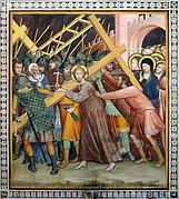 Jesus with the cross in Duomo (San Gimignano).jpg