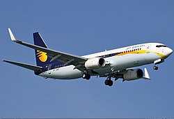 Boeing 737-800 der Jet Airways