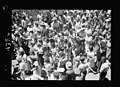Jewish protest demonstrations against Palestine White Paper, May 18. 1939. Crowded scene outside Edsen Cinema hearing an address by Mr. Ben-Zvi, heard through loud-speakers. Closer view of LOC matpc.18328.jpg