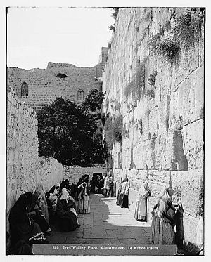 Moroccan Quarter - Moroccan neighborhood dwellings bordering the Wailing Wall, 1898–1914