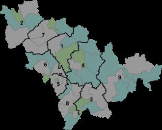 Jilin - Image: Jilin prfc map