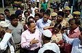 Jitendra Singh accompanied by the senior Central and State Government officials, interacting with the inmates of relief camps in flood affected areas of lower Assam, in Guwahati.jpg