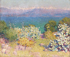 In the morning, Alpes Maritimes from Antibes