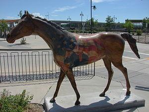 John Wayne patriotic horse Ogden Intermodal Transit Center.JPG