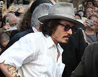 Depp at the Pirates of the Caribbean: Dead Man's Chest London premiere in July 2006.