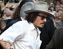 Johnny Depp alla première di Pirati dei Caraibi - La maledizione del forziere fantasma.