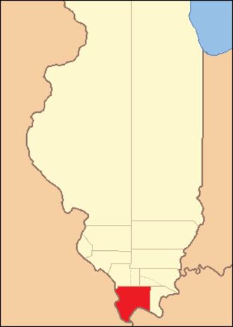 Johnson County, Illinois - Image: Johnson County Illinois 1816