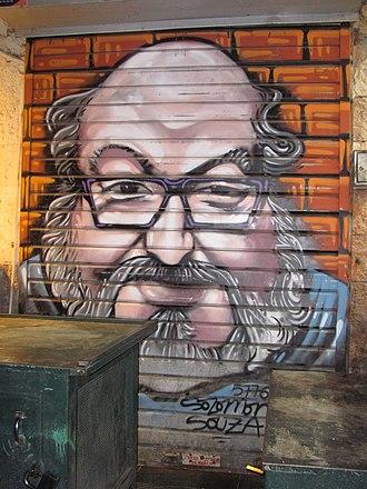 Jonathan Pollard - Spray-paint portrait of Pollard at the Mahane Yehuda Market, Jerusalem