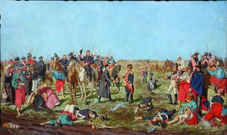 Batalla de las piedras-Rendición de Posadas, Boceto a escala reducida