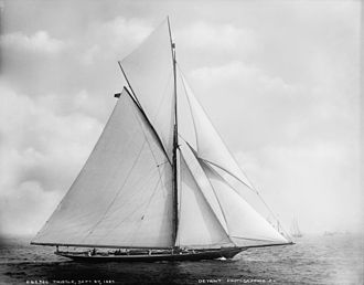 Thistle (yacht) - Thistle in September 1887