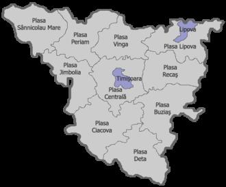 Plasă - The plăşi of Timiş-Torontal County in 1930