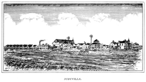 Judyville, Indiana - A sketch of Judyville in the late 19th century